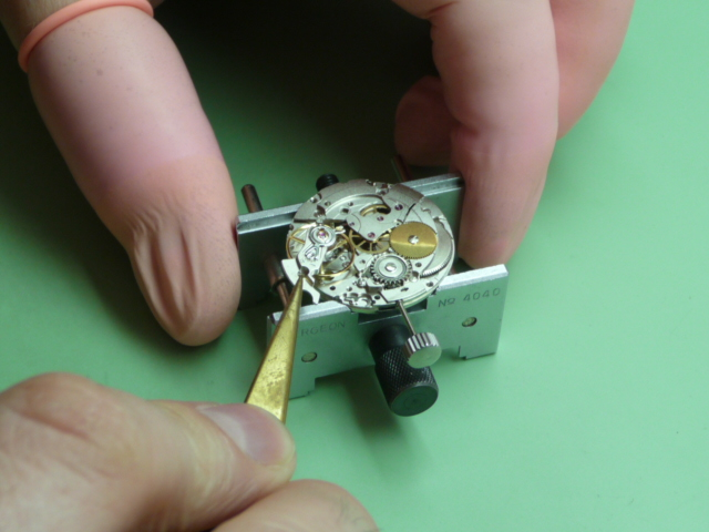 A WATCH BEING SERVICED AND REPAIRED BY STEVE MANGHAM - WATCHMAKER